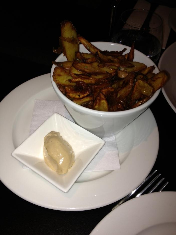 Kipfler potatoes with thyme, rosemary and bush lime aioli
