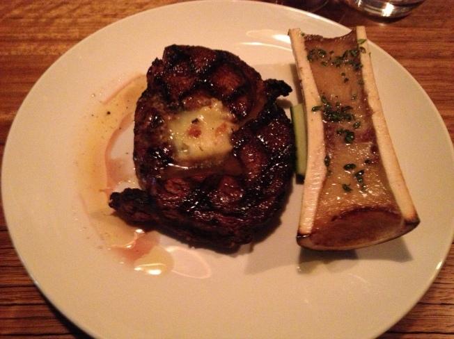 Robbin's Island Ribeye - bone marrow, beef fat butter