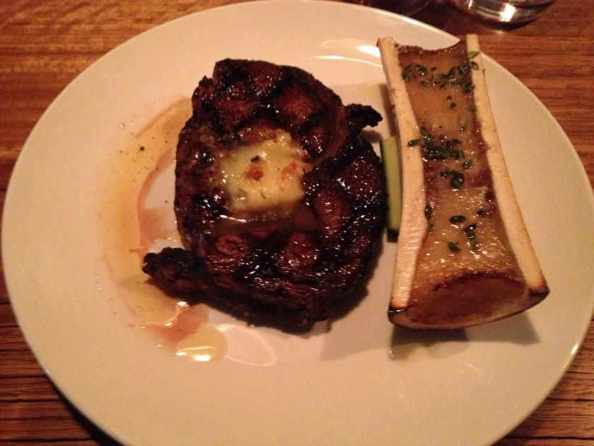 Robbin's Island Ribeye - bone marrow, beef fat butter