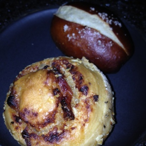Bacon Scroll or Pretzel Roll? Have both!